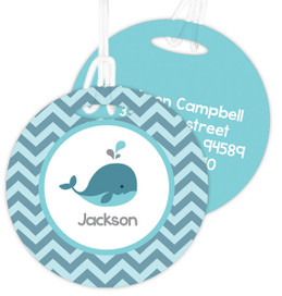 Sweet Little Blue Whale Kids Bag Tags