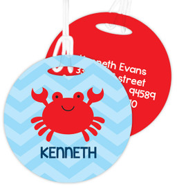 Happy Crab Kids Luggage Tags