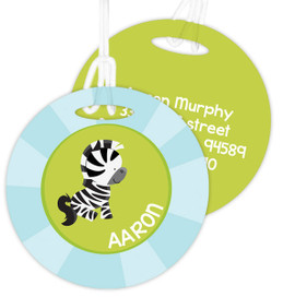 Cute Baby Zebra  Luggage Tags For Kids