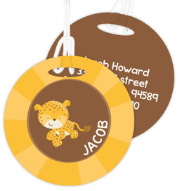 Cute Baby Cheetah  Kids Luggage Tags