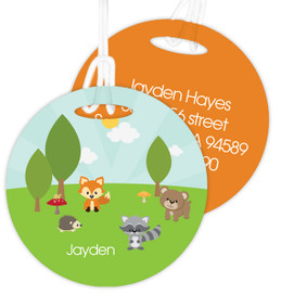 Cute Animals In The Forest Kids Bag Tags