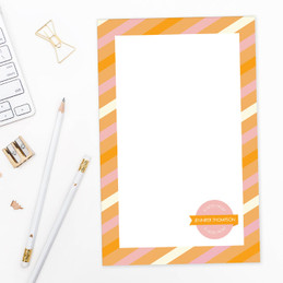 Bold Lines Square Custom Notepad