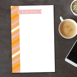 Bold Lines Flag Custom Notepad