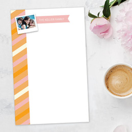 Bold Lines Photo Custom Notepad