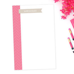 Awesome Custom Notepad With Name | Up and Down Flag