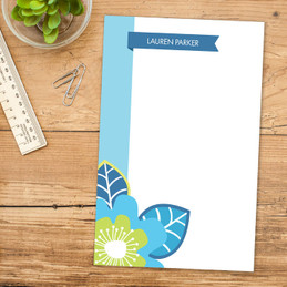 Bold Beauty Border Custom Notepad