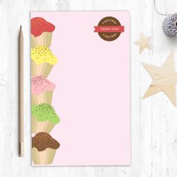 Gorgeous Large Personalized Notepads | Yummy Treats Circle
