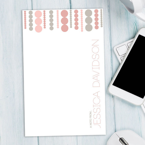 Cute Notepad Stationery   Luxe Circles