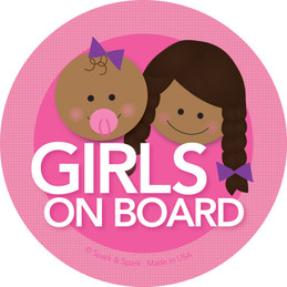 Baby + Girl African American On Board Sticker