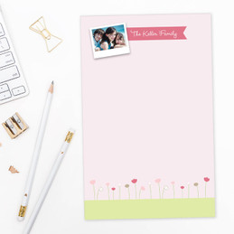 Sweet Field Photo Custom Notepad