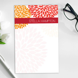 Bold Flowers Custom Notepad