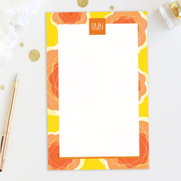 Pretty Blooms Custom Notepad