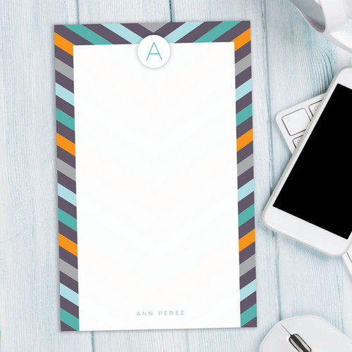 Cute Personalized Stationery Notepads   Style in Stripes