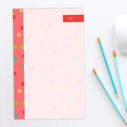 Colorful Dots Custom Notepad