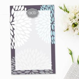 Pom Pom Flowers Custom Notepad