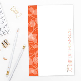 Leaves and Swirls Custom Notepad