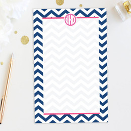 Chevron & Initials Custom Notepad