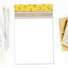 Beautiful Chunky Notepad for Teacher   Small Swirls