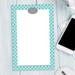 Quatrefoil Beauty Custom Notepad