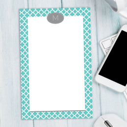 Gorgeous Custom Lined Notepads   Quatrefoil Beauty