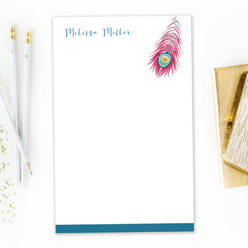 Classic Custom Made Notepads | A Beautiful Feather