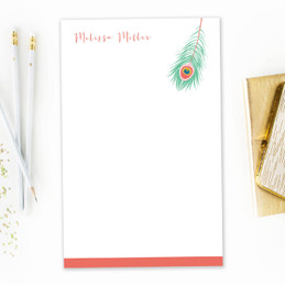 A Beautiful Feather Custom Notepad