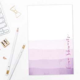 Watercolor Waves Custom Notepad
