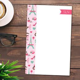 Paris Chic Style Custom Notepad