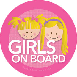 Cute Baby On Board Sticker with Blonde Girls | Spark & Spark