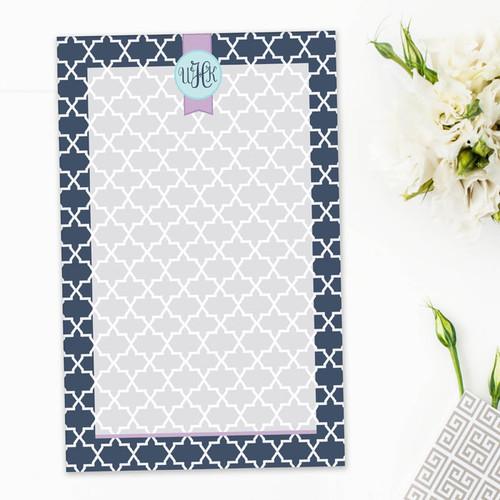 Cute Custom Personalized Notepads   Simple Geometry