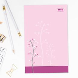 Modern Thin Tree Custom Notepad