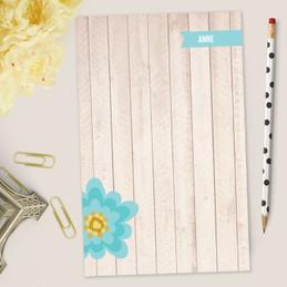 Rustic Flower Custom Notepad