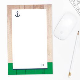 Rustic Anchor Custom Notepad