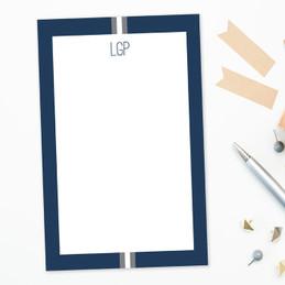 Elegant Ribbon Custom Notepad