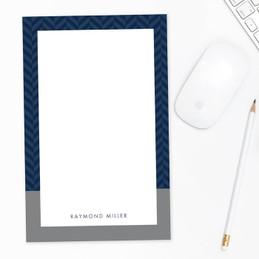 Herringbone Mood Custom Notepad