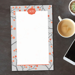 Branches and Dots Custom Notepad