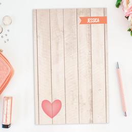 Rustic Heart Custom Notepad