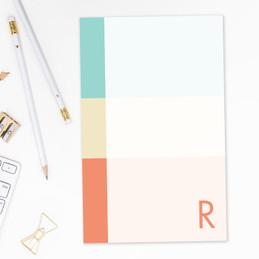 Three Color Rows Custom Notepad