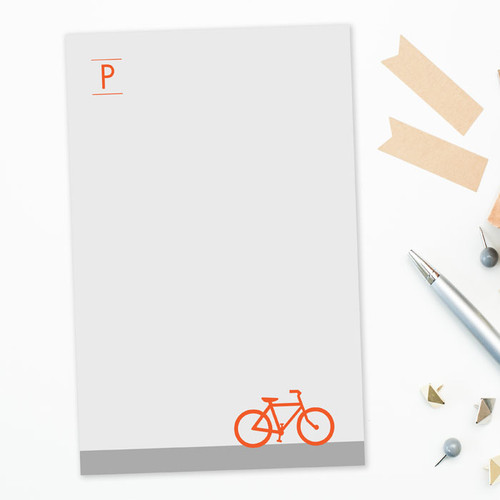 Gorgeous Letter Notepad   Bike Ride