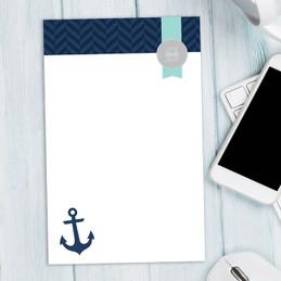 Small Anchor Custom Notepad