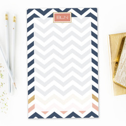 Blue Chevron Custom Notepad