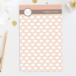 Browse Notepad Designs | White Spots & Bar