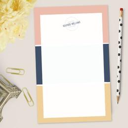 Cute Notepad Teacher Gift | Three Stripes
