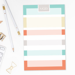 Array of Stripes Custom Notepad