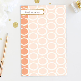 Beautiful Notepad With Name | Tapestry Pattern