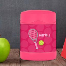 Tennis Fan Girl Thermos Food Jar