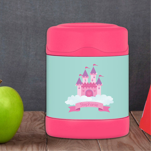 castle in the sky personalized thermos food jar for kids