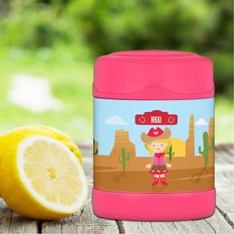 Cowgirl Thermos Food Jar