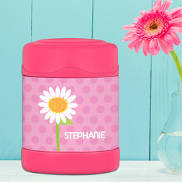 daisy personalized thermos food jar for kids