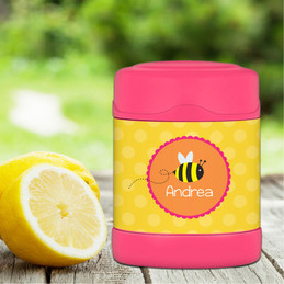 little bee personalized thermos food jar for kids